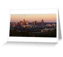 Cincy Sunset Greeting Card