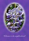 Welcome to the Neighborhood Greeting Card - Wisteria by MotherNature
