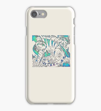 Tiger in Teal  After Franz Marc iPhone Case/Skin