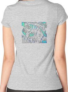 Tiger in Teal  After Franz Marc Women's Fitted Scoop T-Shirt