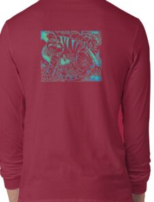 Tiger in Teal  After Franz Marc Long Sleeve T-Shirt