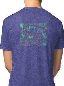 Tiger in Teal  After Franz Marc Tri-blend T-Shirt