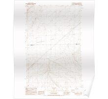 USGS Topo Map Washington State WA Sagebrush Flat 243557 1985 24000 Poster