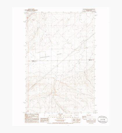 USGS Topo Map Washington State WA Sagebrush Flat 243557 1985 24000 Photographic Print