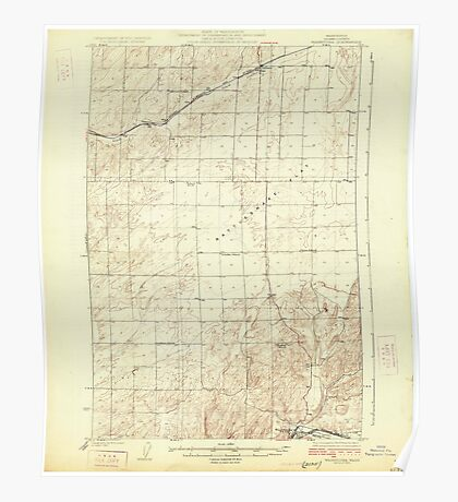 USGS Topo Map Washington State WA Washtucna 244553 1925 62500 Poster