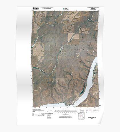 USGS Topo Map Washington State WA Central Ferry 20110406 TM Poster