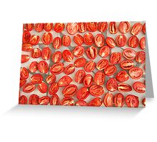 Drying Tomatoes Greeting Card