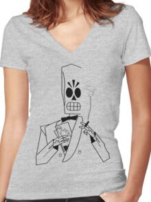 Fading Memory Women's Fitted V-Neck T-Shirt