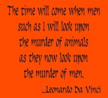 Vegetarian Quote Leonardo Da Vinci Kids Clothes