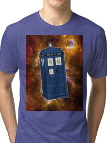 TARDIS in Space II Tri-blend T-Shirt