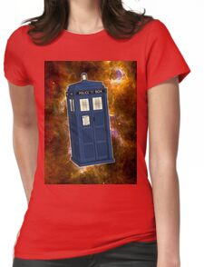 TARDIS in Space II Womens Fitted T-Shirt