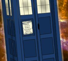 TARDIS in Space II Sticker
