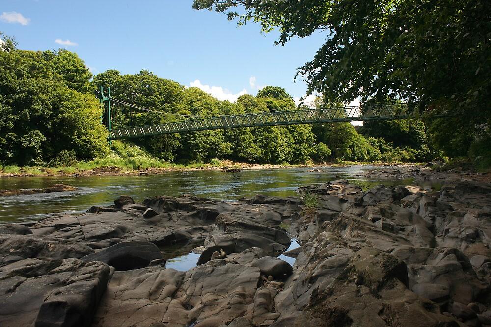 Sion Mills Footbridge by Adrian McGlynn