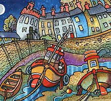 Harbour boats, Tenby by Dorian Davies