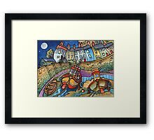 Harbour boats, Tenby Framed Print