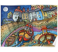 Harbour boats, Tenby Poster