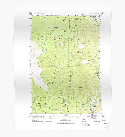 USGS Topo Map Washington State WA Willard 244712 1957 62500 Poster
