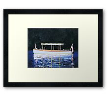 Boat Launch in Calm Water Framed Print