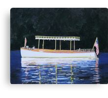 Boat Launch in Calm Water Canvas Print