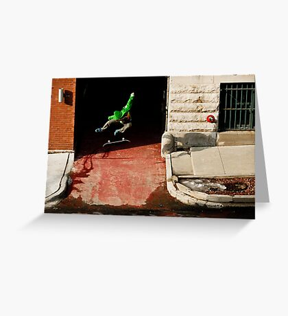 Neen Williams- Kick Flip- photo Ely Phillips Greeting Card