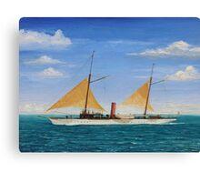 Steamship Yacht Oneida Canvas Print