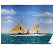 Steamship Yacht Oneida Poster