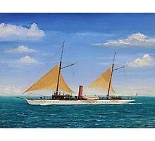 Steamship Yacht Oneida Photographic Print