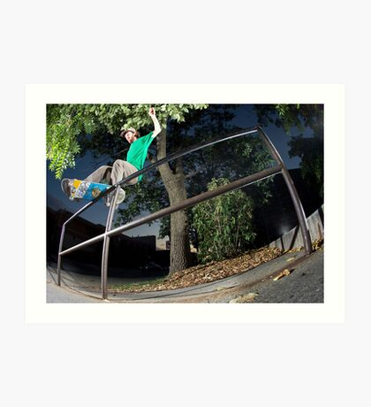 Silas Baxter-Neal - Front Feeble - Photo Sam McGuire Art Print