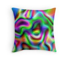 Psychedelic Rainbow Abstract Pattern Throw Pillow