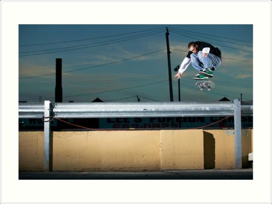 John Methvin - Heelflip - Photo Sam McGuire by Reggie Destin Photo Benefit Page