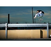 John Methvin - Heelflip - Photo Sam McGuire Photographic Print