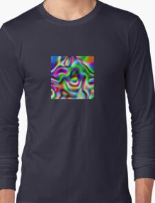 Psychedelic Rainbow Abstract Pattern Long Sleeve T-Shirt