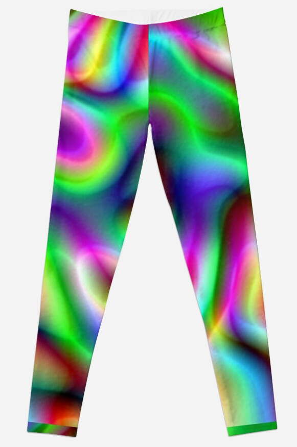 Psychedelic Rainbow Abstract Pattern by taiche