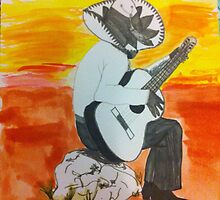 Mexican man playing guitar  by deeza