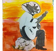 Mexican man playing guitar  Photographic Print