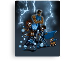 Family of Super Heroes  Canvas Print