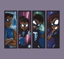 Family of Super Heroes  Kids Tee