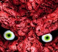 Red faced Demon - Josef Bound monster art Sticker