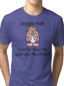 Vegetarian Kid Tri-blend T-Shirt