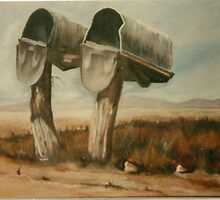 Mailboxes in Country by geri jones