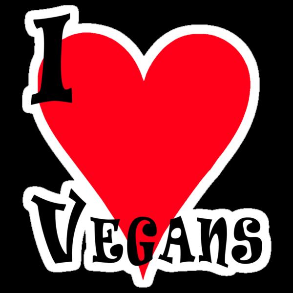 I Love Vegans by T-ShirtsGifts
