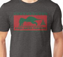 T-Rex Hates Pushups, Ugly Sweater Humor Unisex T-Shirt