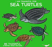 I Am Thankful For Sea Turtles by PepomintNarwhal