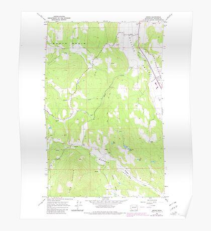 USGS Topo Map Washington State WA Arden 239843 1965 24000 Poster