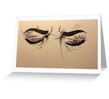 Inked Frustrated Face Greeting Card