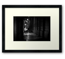 Lovers in Verona Framed Print