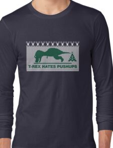 T-Rex Hates Pushups, Christmas Ugly Sweater T-Shirt