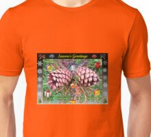 Riot of Colour Christmas Card with Cones Unisex T-Shirt