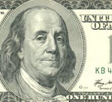 Hundred Dollar Bill Sticker