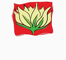 Yoga Lotus Blossom Womens Fitted T-Shirt